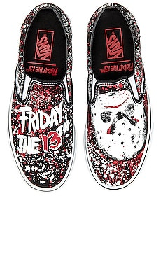 Terror Collection Friday the 13th Classic Slip On Vans $65