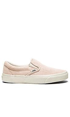 Vans Classic Slip On Sneaker in Iced Pink & Blanc de Blanc