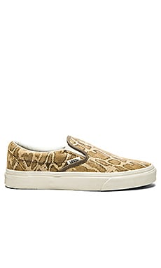 Vans Classic Slip On Sneaker in Snake Tan