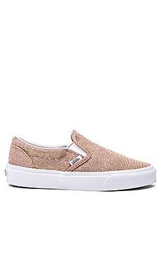 Vans Classic Slip On Sneaker in Rose Gold & True White