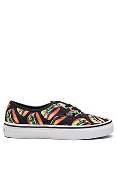 Vans Late Night Authentic Sneaker in Black & Hamburgers