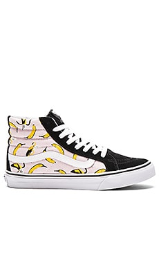 Vans Bananas Sk8-Hi Slim Sneaker in Ballerina & True White