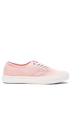 Brushed Twill Authentic Slim Sneaker en Peau De Pêche & Blanc de Blanc