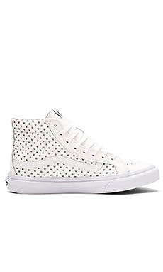 Vans Perf Stars Sk8-Hi Slim Sneaker in True White