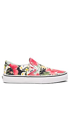 Vans Digi Aloha Classic Slip On in Black & True White