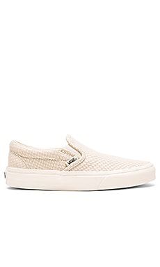Snake Leather Classic Slip-On + in Antique White