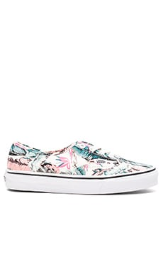 Vans Tropical Authentic Sneaker in Multi & True White