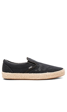 Classic Slip-On Espadrille in Black