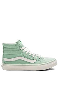 Sk8-Hi Slim Sneaker en Gossamer Green & Blanc de Blanc