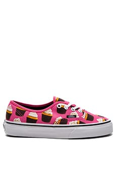 Vans Late Night Authentic Sneaker in Hot Pink & Cupcakes