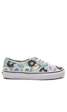 Vans Late Night Authentic Sneaker in Skyway & Donuts