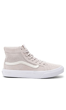 Vans SK8-Hi Slim Cutout Sneaker in Silver Cloud & True White