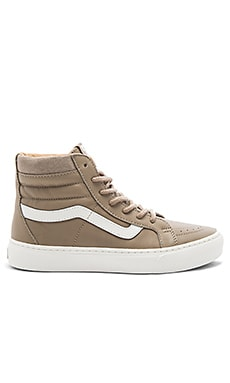 SK8-HI Cup Sneaker in Desert Taupe & Blanc De Blanc