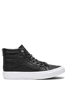 SK8-HI Slim Zip Sneaker in Black & True White