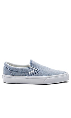 Classic Slip-On Sneaker in Blue & True White