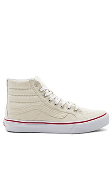 SK8-Hi Slim Sneaker in Bone & True White