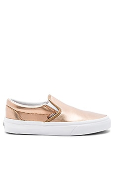 Classic Slip On Sneaker in Rose Gold & True White