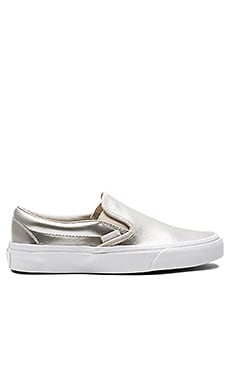 Classic Slip-On Sneaker in Silver & True White