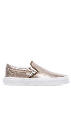 Vans Classic Slip-On Sneaker in Bronze