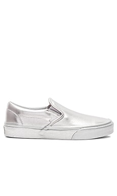 Metallic Sidewall Classic Slip-On Sneaker