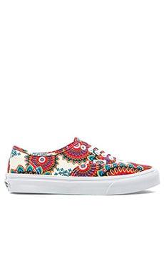 Vans Authentic Slim Geo Floral Sneaker in Magenta & True White