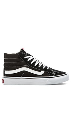Sk8-Hi Slim Sneaker in Black & True White