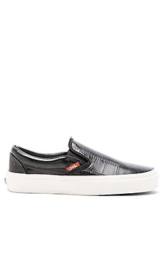 Classic Croc Leather Slip On Sneaker