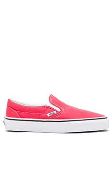 Vans Classic Slip On Sneaker in Cayenne & True White