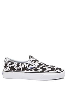 Vans Classic Slip On Eley Kishimoto Sneaker in Flash & White & Black