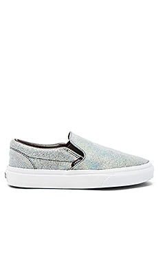 Classic Slip On Matte Iridescent Sneaker in Silver