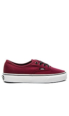 Vans Authentic Sneaker in Port Royale & Black