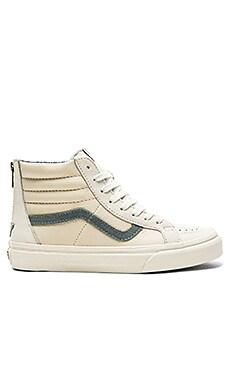 Vans Sk8 Hi Zip CA Sneaker in Blanc de Blanc