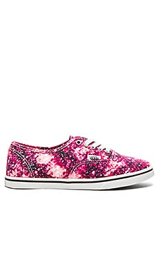 Vans Authentic Lo Pro Cosmic Cloud Sneaker in Black & Coral
