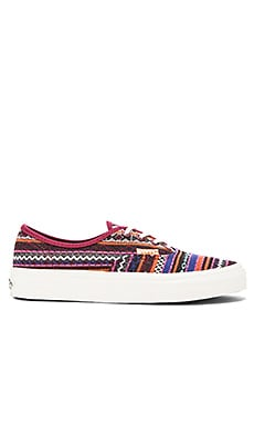 Vans Authentic CA Italian Weave Sneaker in Cordovan & Multi