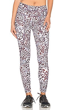 Varley Pacfic Compression Tight in Rose Leopard