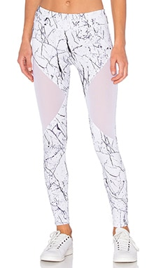 Varley Bicknell Tight in White Marble