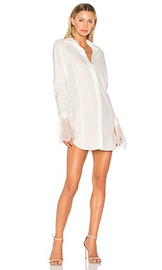 Lace-Trimmed Shirt Dress