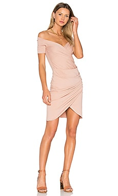 Draped Dress in Tan