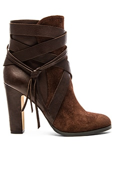 Vince Camuto Charisa Bootie in Cordovan & Mud Cake