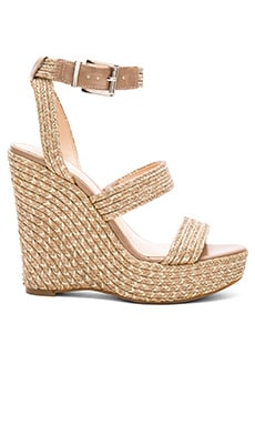 Melisha Wedge in Nude and Gold