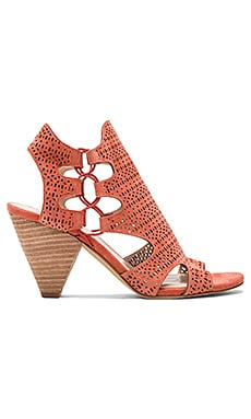 Eadon Heel in Papaya Suede