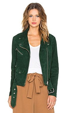 VEDA Jayne Suede Jacket in Bottle Green