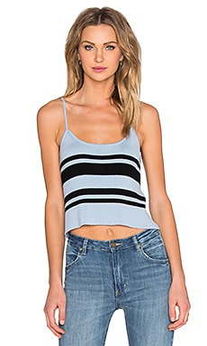 VEDA Plane Rib Cami in Blue Black