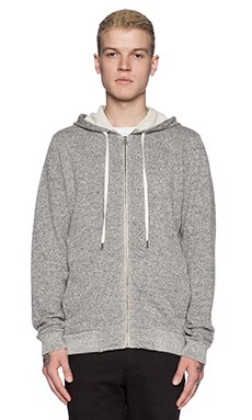 Velvet by Graham & Spencer French Terry Nelson Hoodie in Heather Grey