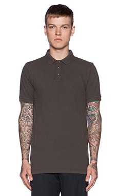 Velvet by Graham & Spencer Walter Pique Polo in Stone