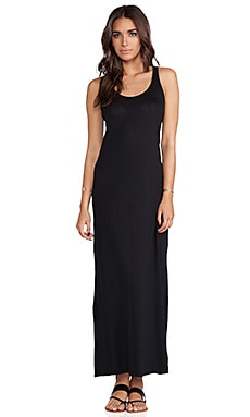 Gypsy Luxe Slub Maxi Dress in Black
