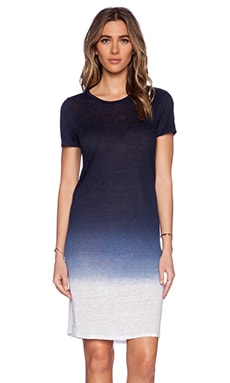 Velvet by Graham & Spencer Ombre Dip Dye Linen Knit Frida Dress in Ink