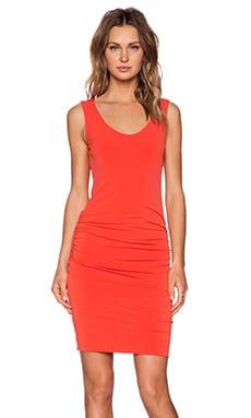Velvet by Graham & Spencer Stretch Jersey Bonte Dress in Crimson