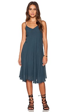 Velvet by Graham & Spencer Odalis Slub Cotton Gauze Dress in Bluebird