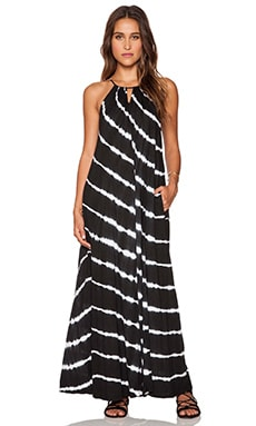 Velvet by Graham & Spencer Via Tie Dye Luxe Slub Maxi Dress in Black